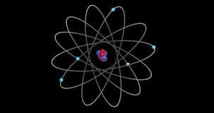 3D atom electrons Orbiting a Nucleus