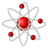 3D Atom. A 3D atom with four electrons Stock Images