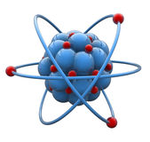 Atom Molecule. 3D atom molecule symbol, isolated Stock Photography