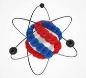 3d atom odizolowywający na białym tle Obrazy Stock