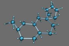 3D Atom Structure Lizenzfreie Stockbilder