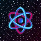 3D Atom Structure Ilustração do vetor ilustração stock