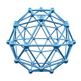 3D atom wireframe. Shpere cage isolated on white background Stock Images