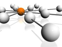 3D  atoms Stock Photos