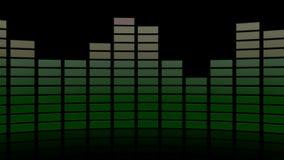 3d audio graphic level reflective stock video