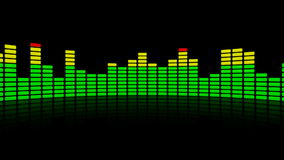 3d audio level equalizer reflection stock video