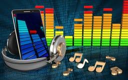 3d audio spectrum mobile phone Stock Photo