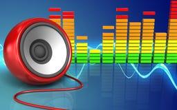 3d audio spectrum speaker Stock Photos