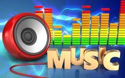 3d audio spectrum speaker Royalty Free Stock Images