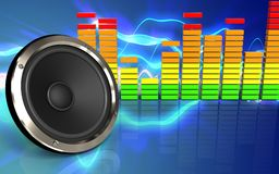 3d audio widmo Zdjęcie Stock