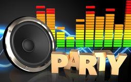 3d audio widmo Zdjęcie Royalty Free