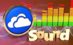 3d audio widmo chmurnieje symbol royalty ilustracja