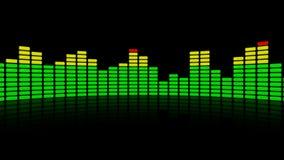 3d audiobezinning van de niveauequaliser stock illustratie