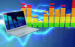 3d audiospectrum audiospectrum Stock Afbeeldingen