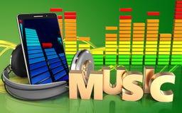 3d audioteken van de spectrummuziek Royalty-vrije Stock Fotografie