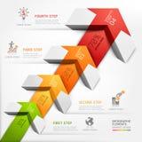 3d aumentano l'affare del diagramma della scala della freccia. Fotografie Stock