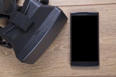 3d auriculares e móbil da realidade virtual VR Imagens de Stock Royalty Free