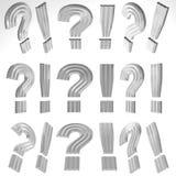 3D Ausruf Mark And Question Mark Lizenzfreies Stockfoto