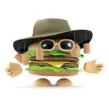 3d Australian beefburger Royalty Free Stock Image