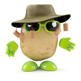 3d Australian potato. 3d render of a potato dressed for the Australian outback Royalty Free Stock Photo