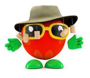 3d Australian tomato. 3d render of a tomato wearing an Australian outfit Royalty Free Stock Photo
