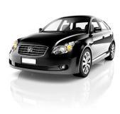 3D Auto van de Beeld Zwarte Sedan Stock Afbeelding