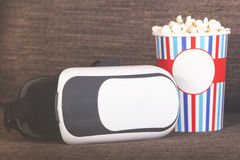 3D autoguident le concept de divertissement de cinéma Photographie stock libre de droits