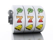3d automat do gier KASYNOWY pojęcie Obrazy Royalty Free