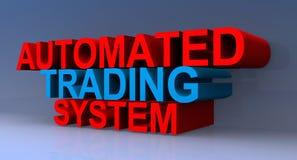 3D automatiserade handelsystem undertecknar vektor illustrationer