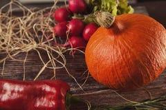 D'automne toujours la vie sur la table en bois Images libres de droits
