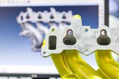 3D automobieldelen van het aftastenaluminium Stock Fotografie