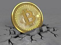 3d av bitcoin Royaltyfri Bild