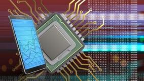 3d av CPU Royaltyfri Bild
