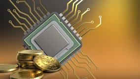 3d av CPU Fotografering för Bildbyråer