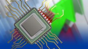 3d av CPU Royaltyfri Fotografi