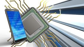 3d av CPU Royaltyfria Foton