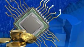 3d av CPU Stock Illustrationer