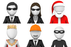 3d avatars of  Santa and other characters. 3d avatars. Cartoon characters. Santa and other Stock Photography