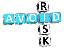 3D Aviod Risk Crossword. On white background Stock Image