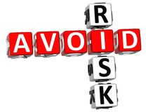 3D Aviod Risk Crossword. On white background Stock Photography