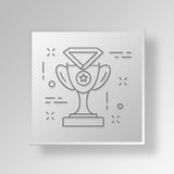 3D Award icon Business Concept. 3D Symbol Gray Square Award icon Business Concept Royalty Free Stock Photography