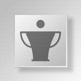 3D Award icon Business Concept. 3D Symbol Gray Square Award icon Business Concept Stock Photography