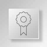 3D Award icon Business Concept. 3D Symbol Gray Square Award icon Business Concept Royalty Free Stock Photos