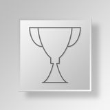 3D Award icon Business Concept. 3D Symbol Gray Square Award icon Business Concept Stock Images