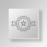 3D Award icon Business Concept. 3D Symbol Gray Square Award icon Business Concept Royalty Free Stock Image