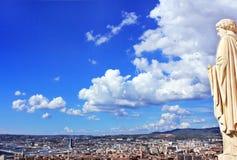 D'Azur Провансали CÃ'te, Франция - взгляд на марселе стоковое изображение