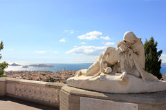 D'Azur Провансали CÃ'te, Франция - собор марселя стоковая фотография rf