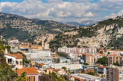 利古里亚阿尔卑斯在尼斯,彻特d'Azur 免版税库存图片