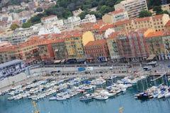 小游艇船坞,尼斯,彻特d'Azur,法国 免版税库存图片