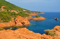 d'Azur da costa Fotografia de Stock Royalty Free